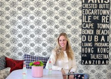 Cool wallpaper for the shabby chic dining room
