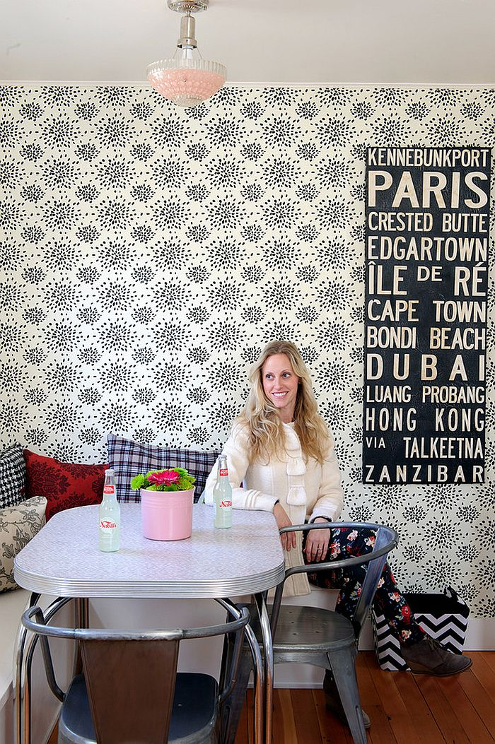 Cool Wallpaper For The Shabby Chic Dining Room Design Sarah Phipps