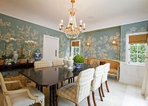 Wallpaper Shapes The Perfect Backdrop For Brilliant Blue Accents Design Atmosphere Interior