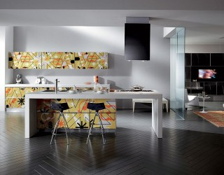 Crystal Living and Kitchen: Glossy Designs Display Inspired Silkscreen Printing!