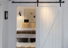 Custom barn door for the contemporary bedroom