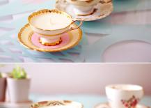 DIY Antique Teacup Candles