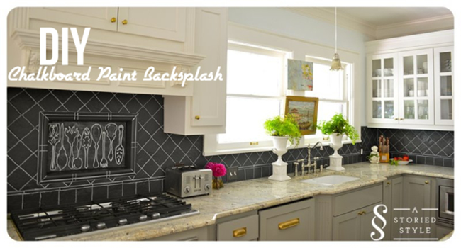 DIY Chalkboard Backsplash