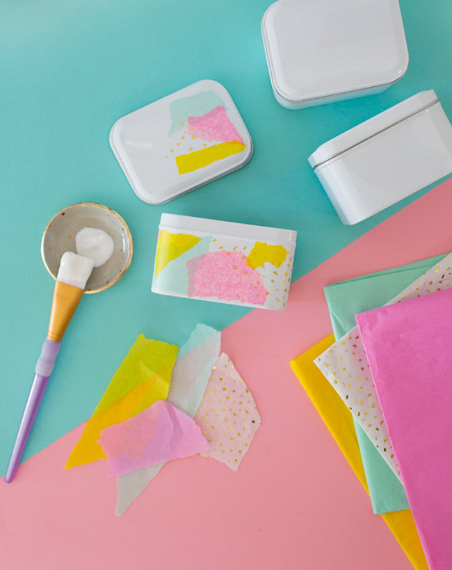 DIY Easter tins from Oh Joy  The Best DIY Projects for Spring DIY Easter tins from Oh Joy