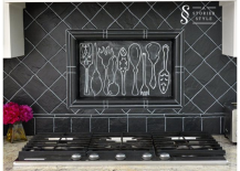DIY Painted Blackboard Backsplash