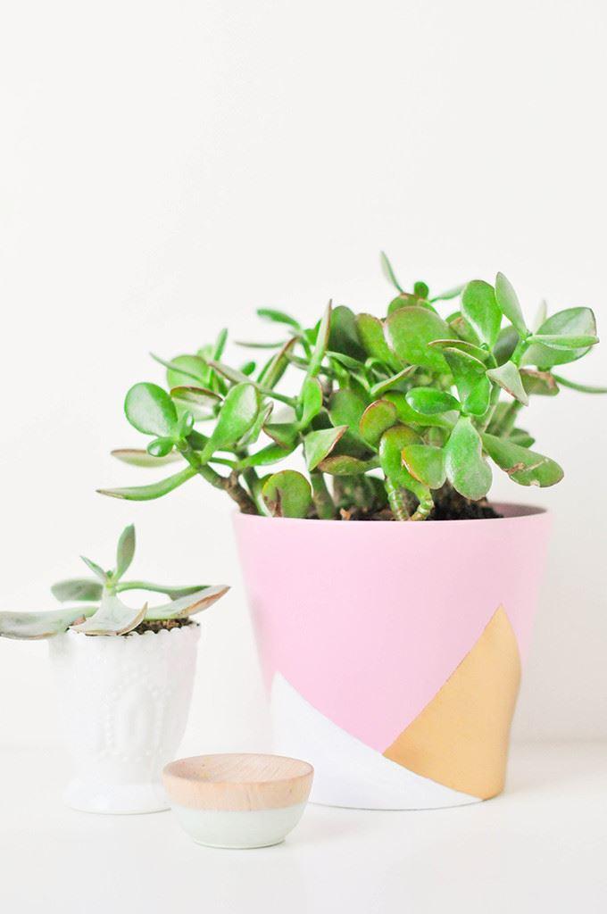 DIY geo vase from Proper