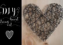 DIY heartstring art