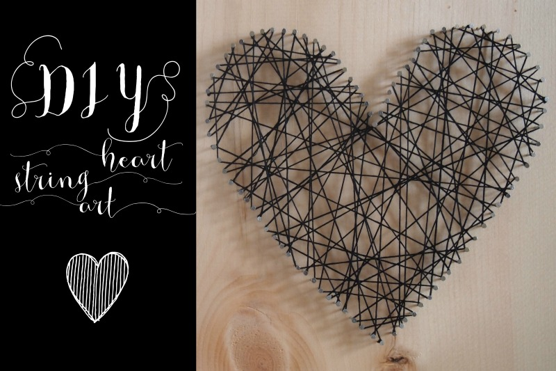 DIY heartstring art
