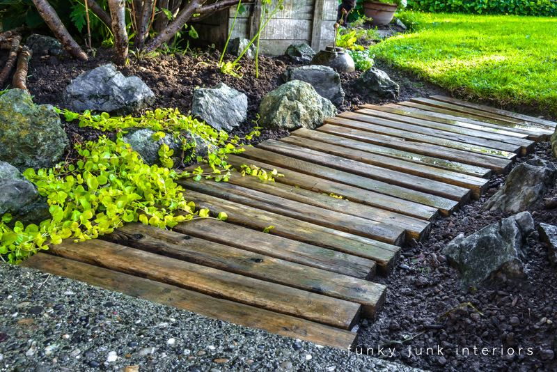 view in gallery diy pallet wood walkway - Garden Ideas With Pallets