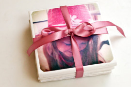DIY photo tile coasters  8 DIY Mother's Day Gifts You Can Make Yourself DIY photo tile coasters 270x180