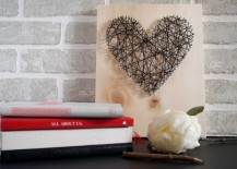 DIY string art tutorial 217x155 8 DIY Mothers Day Gifts You Can Make Yourself