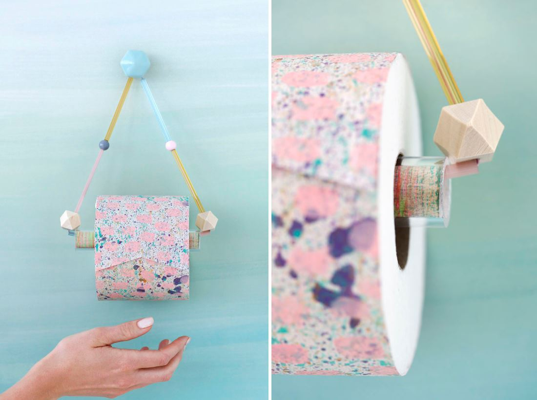 DIY toilet paper holder from Design Love Fest