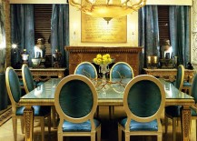 Dazzling-dining-room-in-blue-and-gold-with-custom-drapes-and-decor-217x155