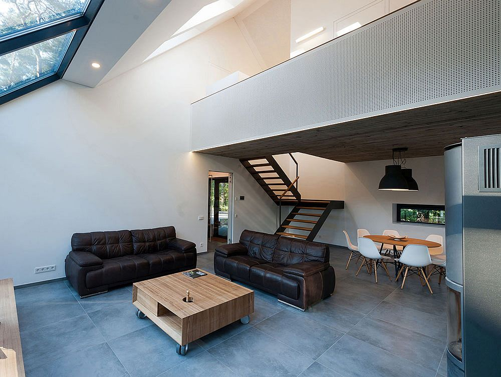 Decor inisde the Black House Blues is kept simple and minimal