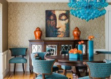Decorate your dining room with the brilliance of blue