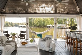 Dream waterfront retreat offers a soothing hangout  Summer Spirit: 25 Cool Outdoor Hangouts with a Hammock! Dream waterfront retreat offers a soothing hangout 270x180