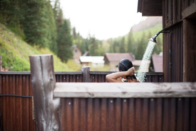 Dunton Hot Springs Shower