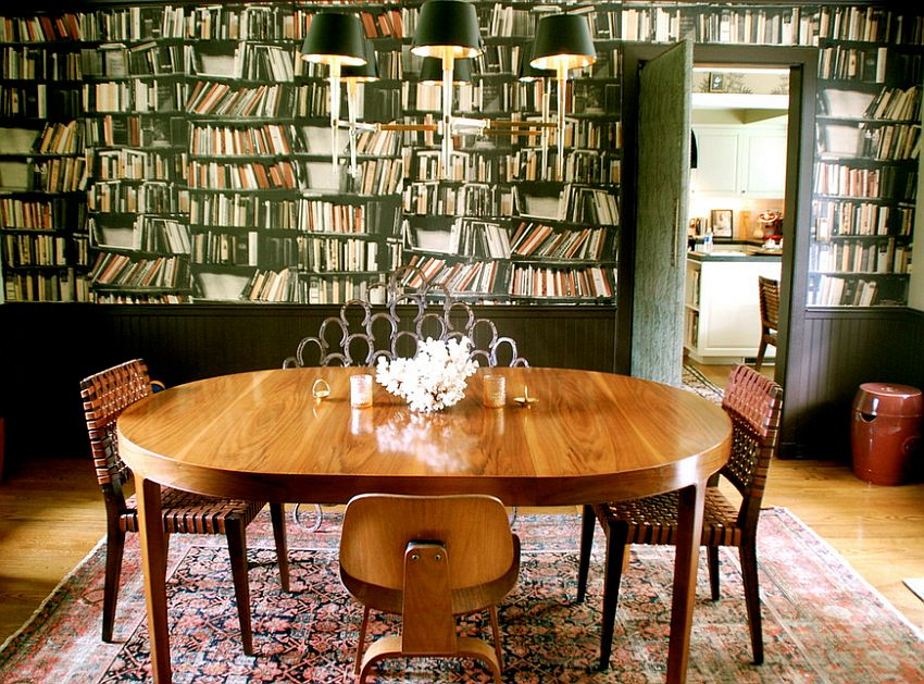 27 splendid wallpaper decorating ideas for the dining room for Quirky dining room ideas