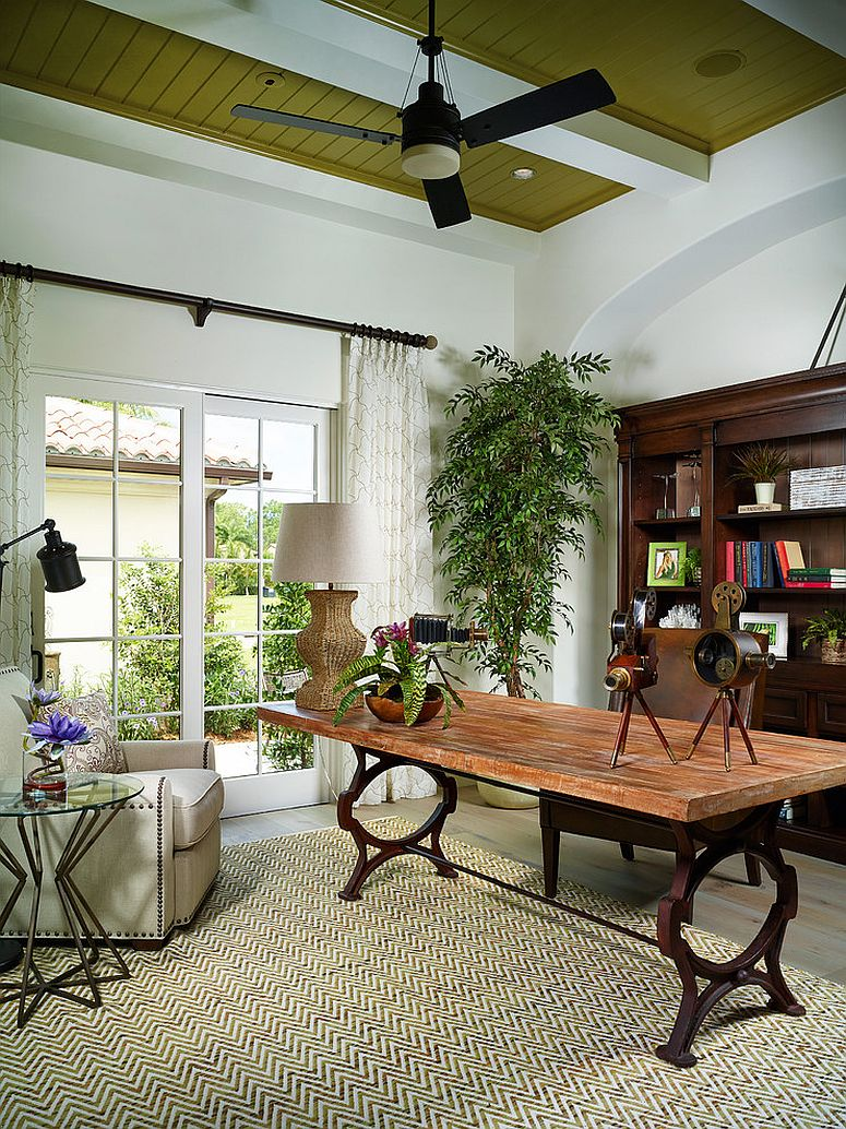 Elegant and relaxed tropical home office [Design: London Bay Homes]