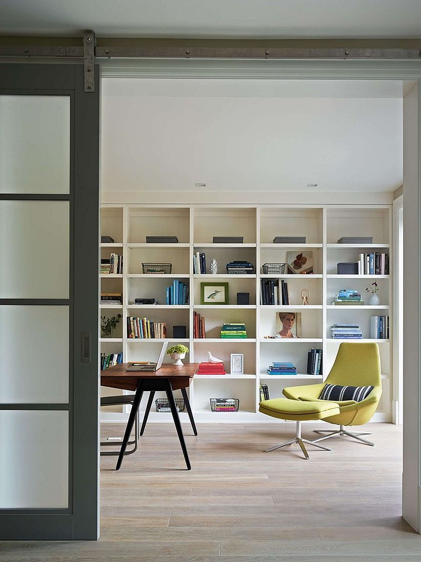 Ergonomic home office design with ample natural light