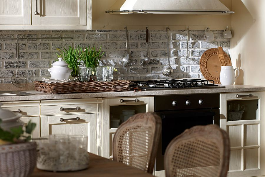 Exclusive italian kitchen with modern comfort and vintage - Decoracion vintage cocina ...