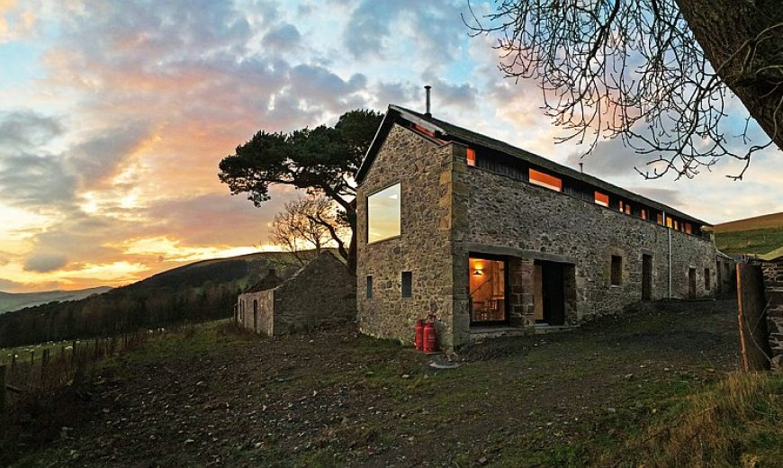Old Mill on Scenic Scottish Border Transformed into a Modern Holiday Home
