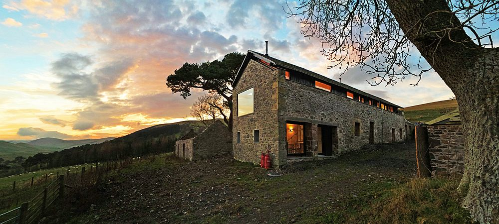 Fabulous conversion of old Mill in UK Countryside into a modern home Old Mill on Scenic Scottish Border Transformed into a Modern Holiday Home
