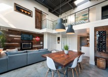 Reclaimed Barn Wood Shapes Vintage Modern Loft in Vancouver