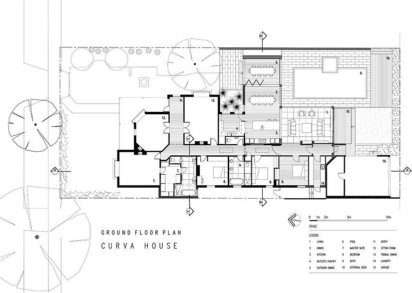 Floor plan of the Curva Home in Melbourne