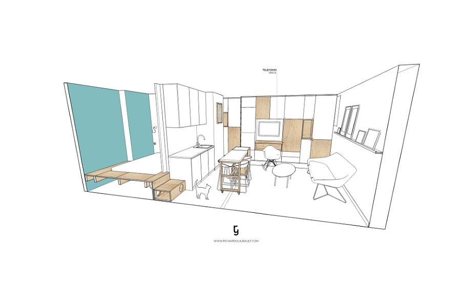 Floor plan of the chic Paris Apartment