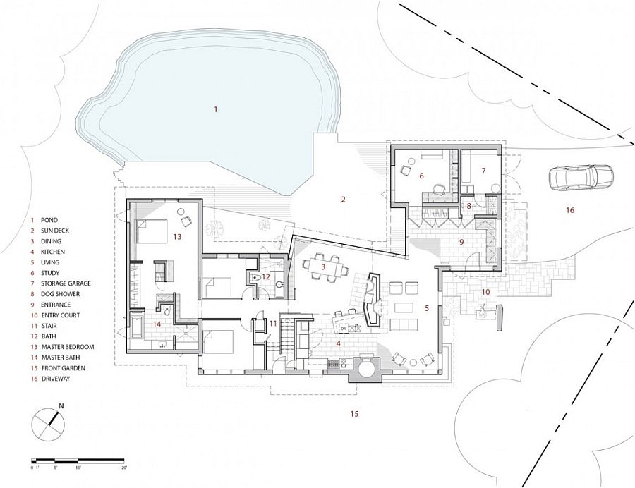 Floor plan of the renovated private home in Ontario, Canada