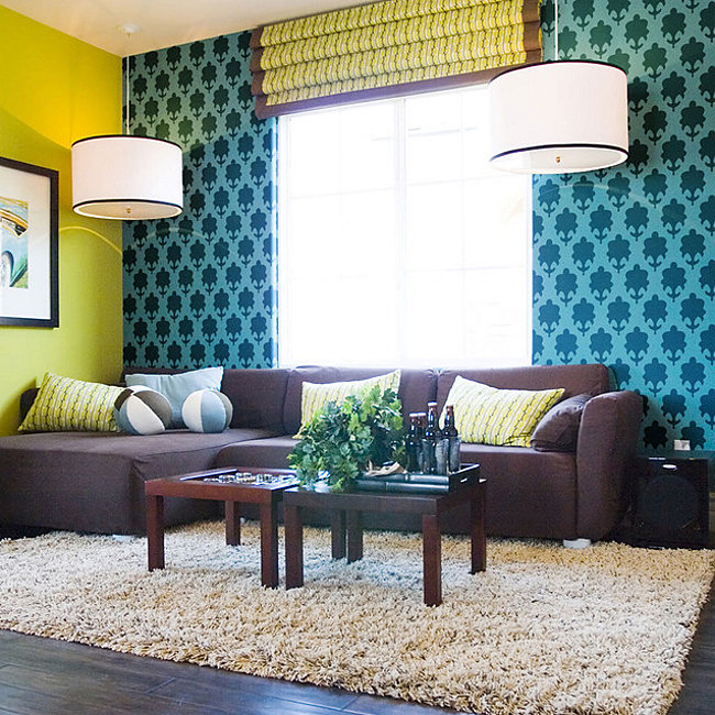 Make a statement with stenciled walls for Paint templates for walls