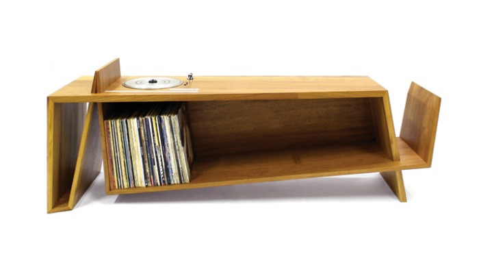 An elegant, low-profile design for a record player