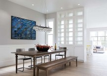 Formal dining space of the renovated Victorian home