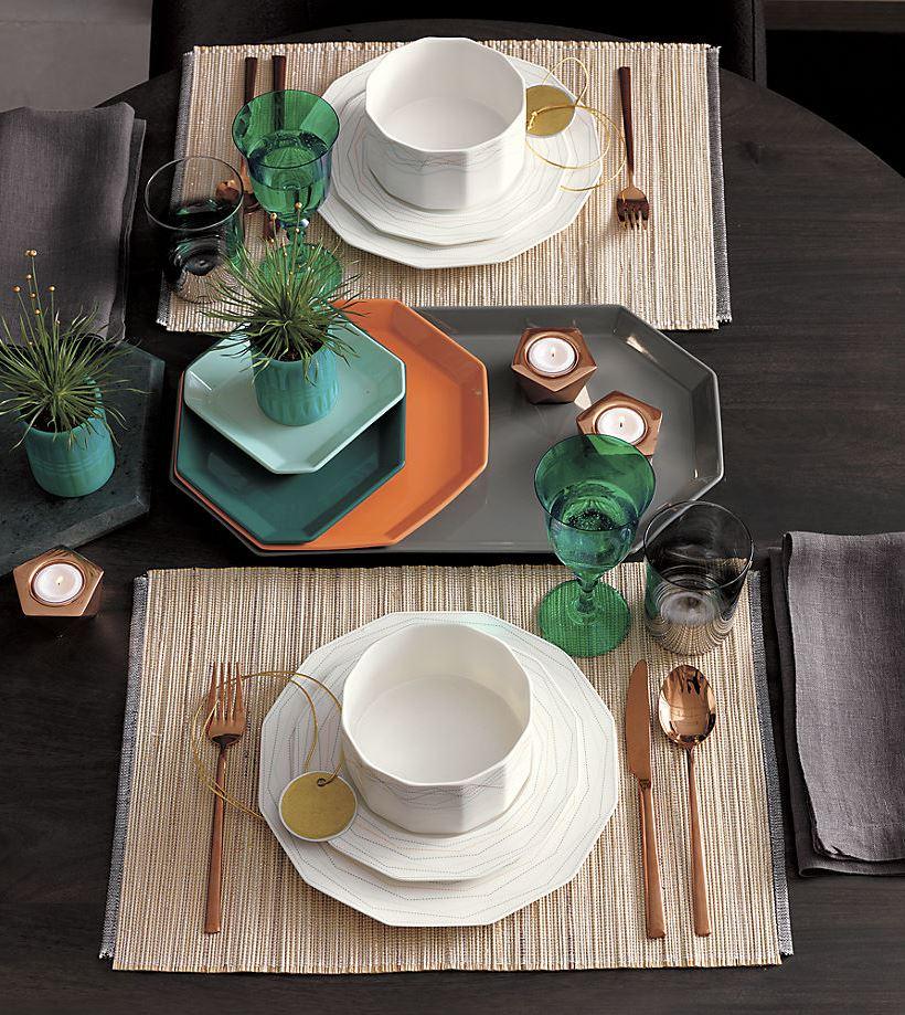 view in gallery geo modern dinnerware from cb2 - Modern Dinnerware
