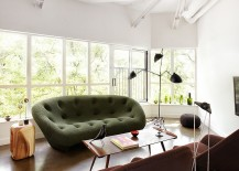 Gorgeous Ploum Sofa in green steals the show 217x155 Iconic Modern Sofas That Bring Home Comfort and Versatility