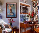 Gorgeous home office brings forth color and elegance