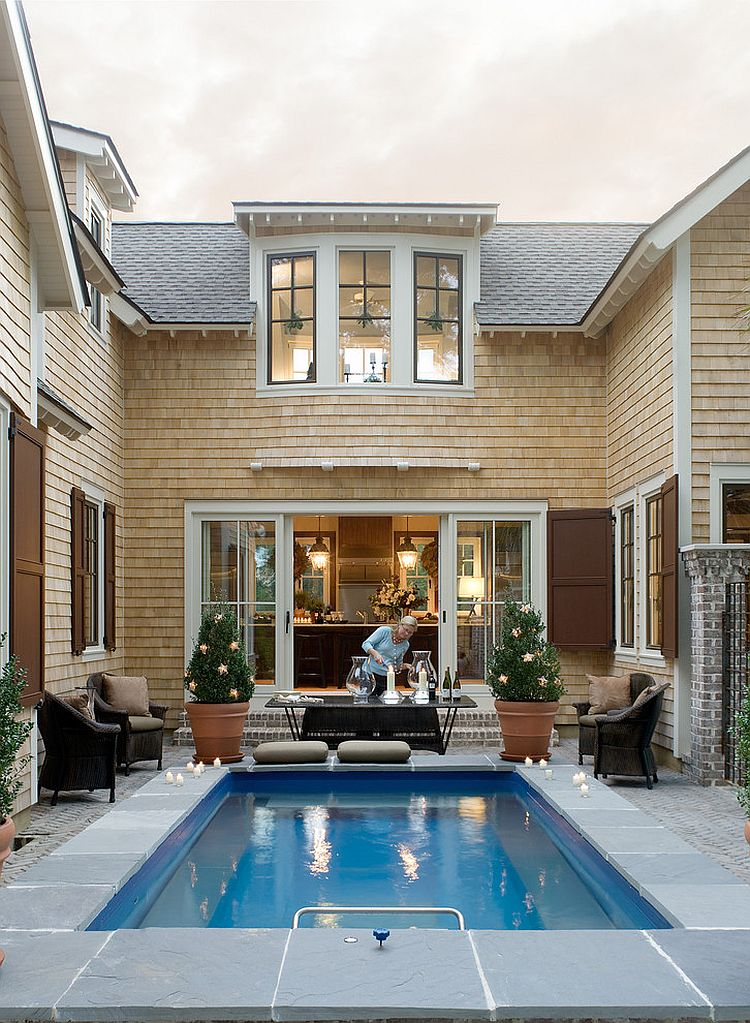 23 small pool ideas to turn backyards into relaxing retreats for Home plans with pools