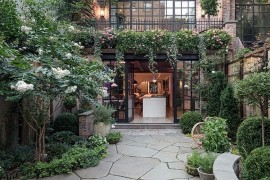 Gorgeous private garden of the NYC Townhouse