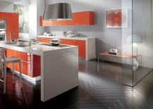 Graphic motifs and colors bring the kitchen alive