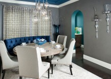 Gray-dining-room-with-custom-designed-blue-banquet-and-ceiling-217x155