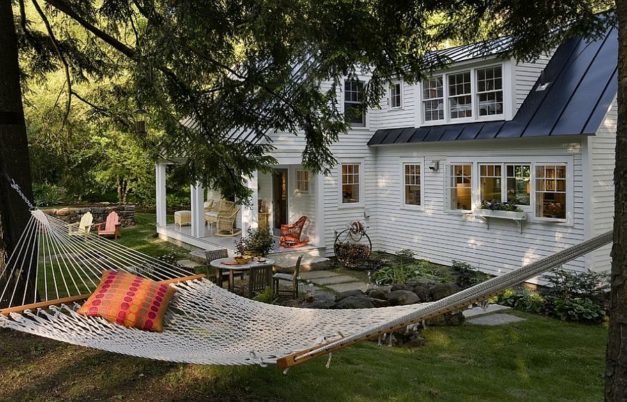 Hammock in the trees can serve you all year long! [Design: Smith & Vansant Architects]