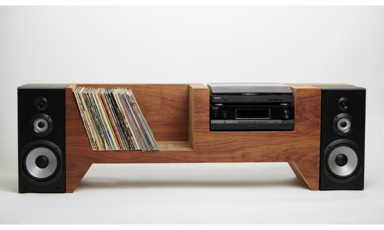 This console is hand-built and even has a secret compartment built in