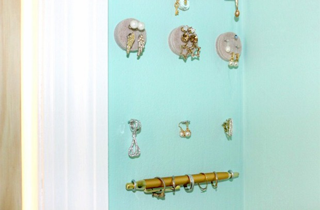 Hang Your Jewelry on the Wall to Save Space