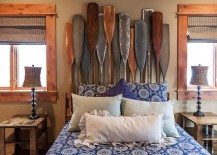 Headboard with oars stands out visually 217x155 30 Ingenious Wooden Headboard Ideas for a Trendy Bedroom