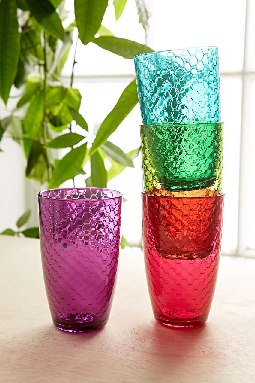 Honeycomb glassware from Urban Outfitters