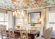 How about some color for the dining room ceiling