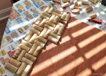 How to Make a Backsplash Out of Wine Corks