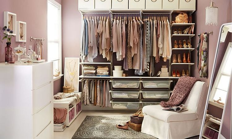 8 Useful Closet Hacks to Tidy Up Your Wardrobe on the Cheap : IKEA Algot Closet offers the perfect storage solution from www.decoist.com size 750 x 449 jpeg 79kB