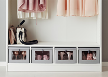 IKEA HYFS Clear Front Shoe Storage